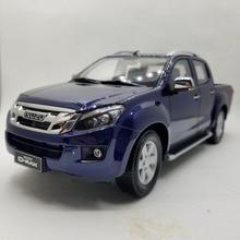 1:18 литья под давлением модель для ISUZU D-MAX синий Пикап сплав игрушечный автомобиль миниатюрная коллекция подарки D MAX DMAX грузовик