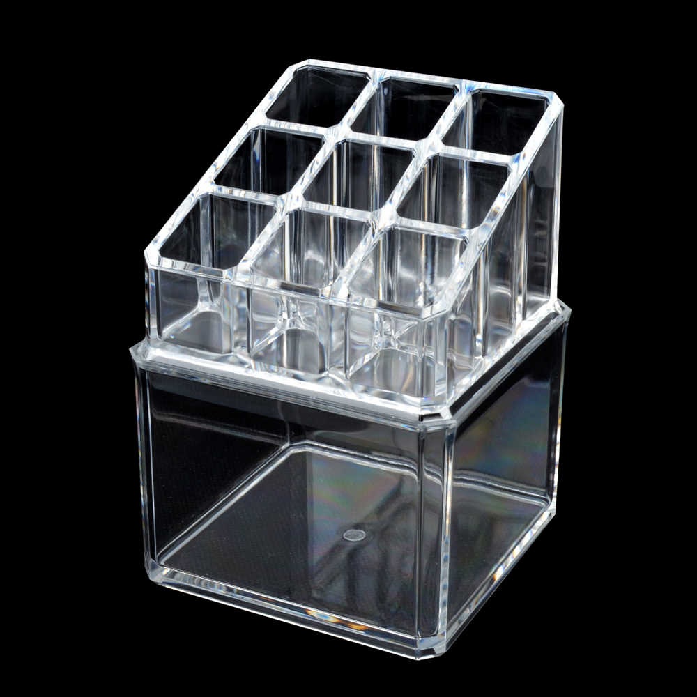 ELERA Clear Acrylic Storage Box Organizer Makeup Tools Holder Storage Case, Cosmetic Box Use for Display Lipstick, Jewelry