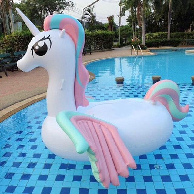 2017 Inflatable Unicorn Giant Pool Float Swimming Float