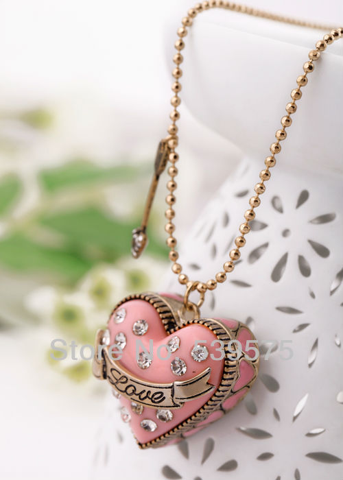 Unique sword love heart pendant necklace pink heart necklaces in unique sword love heart pendant necklace pink heart necklaces in pendant necklaces from jewelry accessories on aliexpress alibaba group aloadofball Image collections