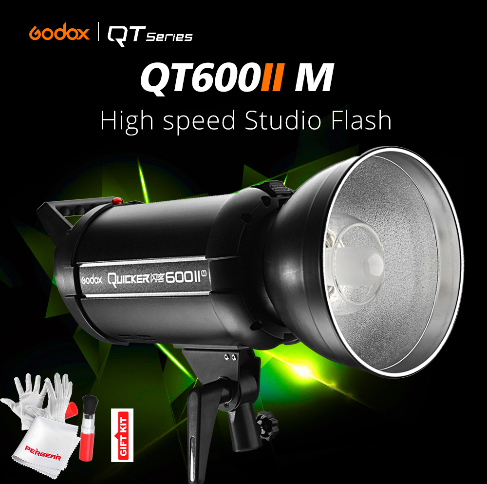 Godox QT600II QT-600IIM 600WS GN76 1/8000s High Speed Sync Flash Strobe Light with Built in 2.4G Wirless System X1T Trigger new godox qt1200ii qt1200iim 1200ws gn102 1 8000s high speed sync flash strobe light lamp bulb with built in 2 4g wirless system