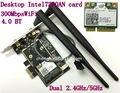 Рабочего Intel двухдиапазонный беспроводной - N 7260 для настольных пк 7260HMW в двухдиапазонный wi-fi Bluetooth 4.0 300 Мбит 2.4 ГГц / 5 ГГц