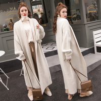 OLOEYFashion Woman Thick Sweaters 2018 Autumn Winter New Solid Long Sleeve Cardigans Knitting Plus Size Sweater Long Coat H1137