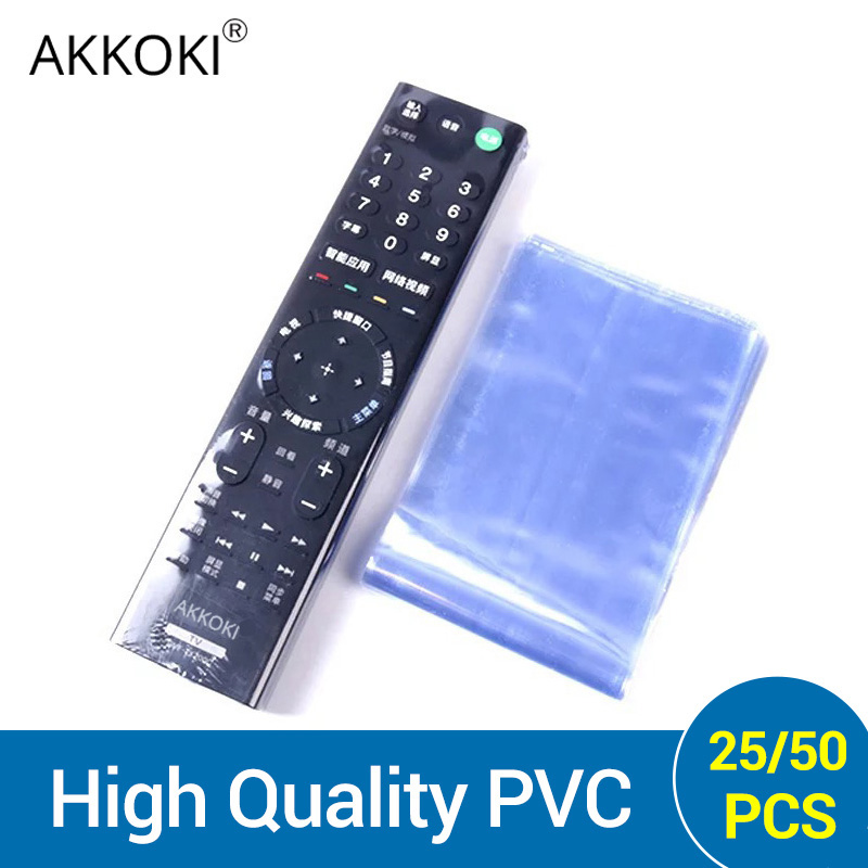 25/50 Waterproof TV Remote Control Cover Heat Shrink Film Protector Cover Air Condition Remote Control Protector Protective Case(China)