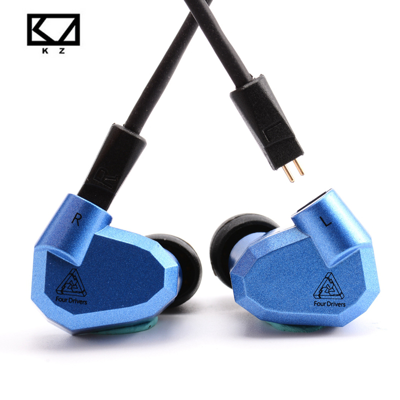 KZ ZS5 2DD+2BA Hybrid In Ear Earphone KZ-ZS3 0.75mm 2 Pin Cable HIFI DJ Monito Running Sport Earphones Earplug Headset Earbud 2016 senfer 4in1 ba with dd in ear earphone mmcx headset with upgrade cable silver cable hifi earbuds