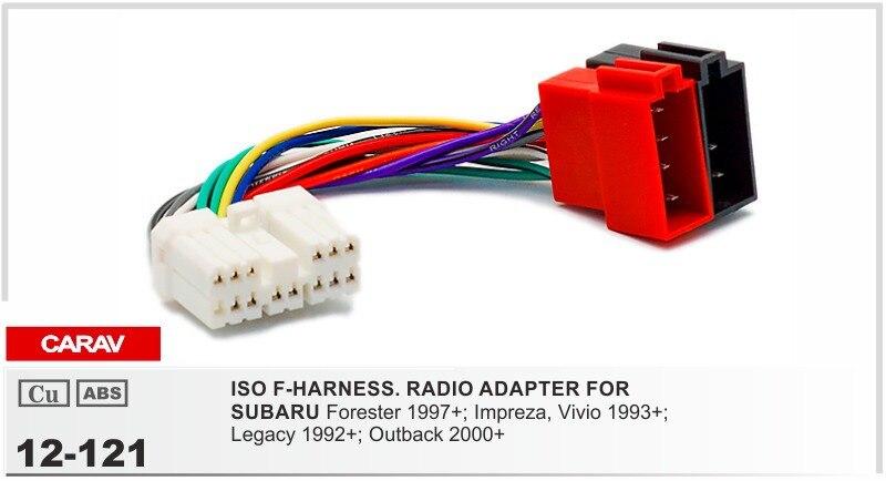 CARAV 12 121 Car ISO Radio Plug for SUBARU Stereo Wiring F Harness ...