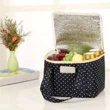 Printing Portable Insulated Thermal Cooler Box Food Storage Bag Picnic Container Canvas 4 Colors