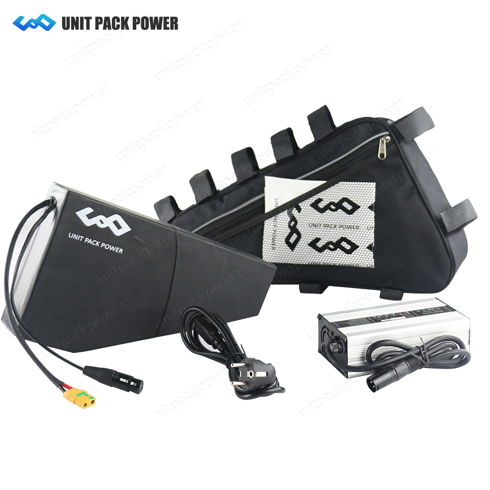 US EU AU No Tax 48V 20Ah Triangle Battery 1000W 48V Electric Bike Battery 48V 20Ah Lithium ion Battery with Bag+4A Fast Charger powerful 48v electric bike battery pack li ion 48v 50ah 1000w batteries for electric scooter with use panasonic 18650 cell