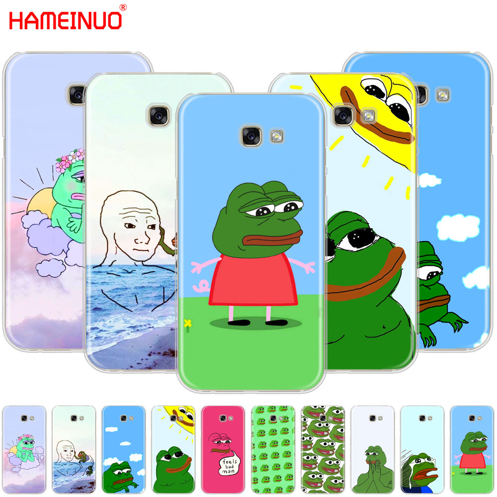 HAMEINUO Cute Frog Meme Animal funny cell phone case cover for Samsung Galaxy A3 A310 A5 A510 A7 A8 A9 2016 2017 2018 image