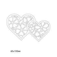 New Heart Pattern frames and covers Metal steel Cutting Dies DIY Scrapbook Album Paper Card Crafts Stencil Scrapbooking stamps