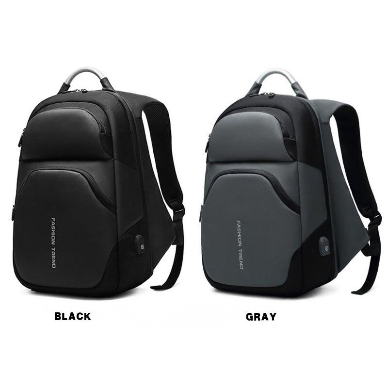 Sacs à dos d'ordinateur portable hommes USB charge à la mode affaires sac à dos hydrofuge grande capacité voyage sac à dos mâle mochila ML045 - 3