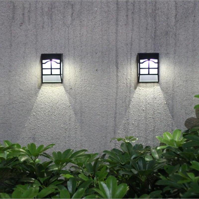 Mini Wall Lamp Solar Light Outdoor Fence Garden Waterproof Home Landscape Courtyard Lights Street Lights Stairs Walls YL005-1A