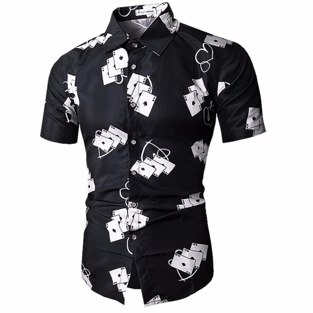 Mens Hawaiian Shirt Male Casual Camisa Masculina Printed Beach Shirts Short Sleeve Brand Clothing Free Shipping Asian Size