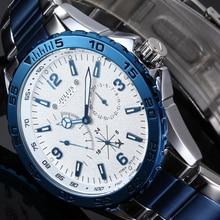 2016 Julius Marca de Lujo de Cuarzo Multifunción Reloj de Los Hombres Casual Sport Relojes Hombre Militar de Acero Inoxidable Reloj de Pulsera Hombres Reloj