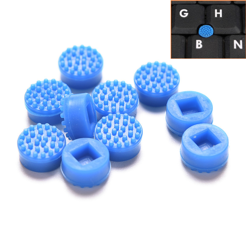 10pcs Laptop Notebook Trackpoint Pointer Mouse Blue Stick Point Cap For Laptop Keyboard Trackpoint Little Dot Cap