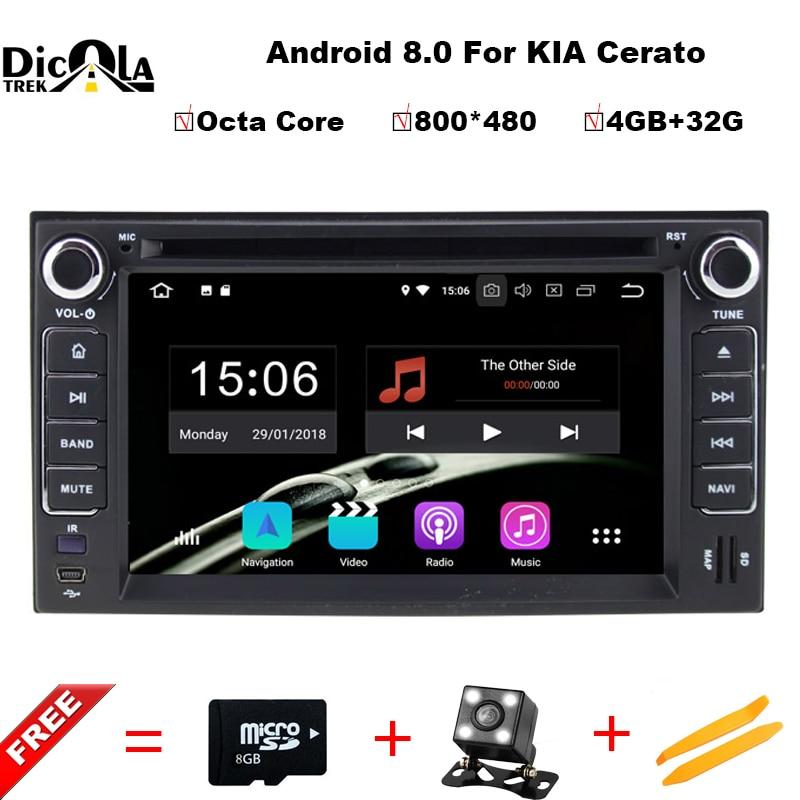 2 din Android 8.0 Octa Core AUTO lettore DVD di navigazione PER KIA CERATO CEED SPORTAGE 2004-2010 car audio stereo Multimedia GPS