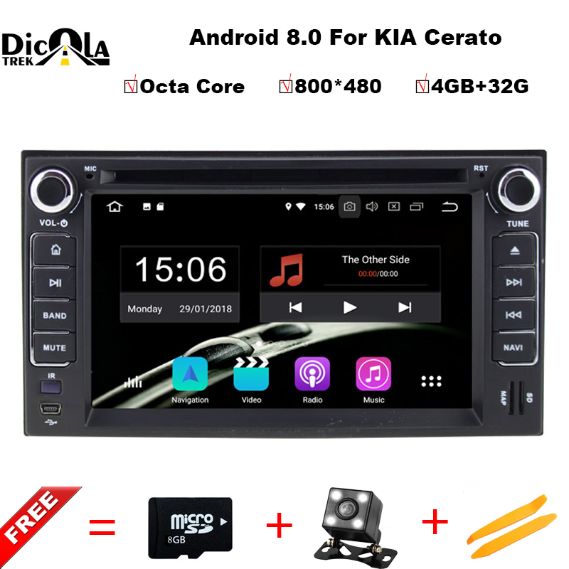 2 din Android 8.0 Octa Core CAR DVD player navigation FOR KIA CERATO CEED SPORTAGE 2004-2010 car audio stereo Multimedia GPS