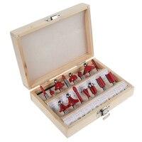 HOEN 15pcs 1 4 Shank Milling Cutter Router Bit Set Tungston Carbide Rotary Tool Wood Woodworking