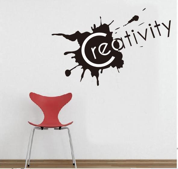 Wall Decals Sticker Black Great Proverbs Creativity Home Decor Art Mural