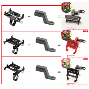 """Image 2 - moto Bike Mobile Phone Holders Stands Bike bicycle motorcycle Mobile phone holder aluminium GUB P10 for 3.5""""to7.5"""" Smartphones"""