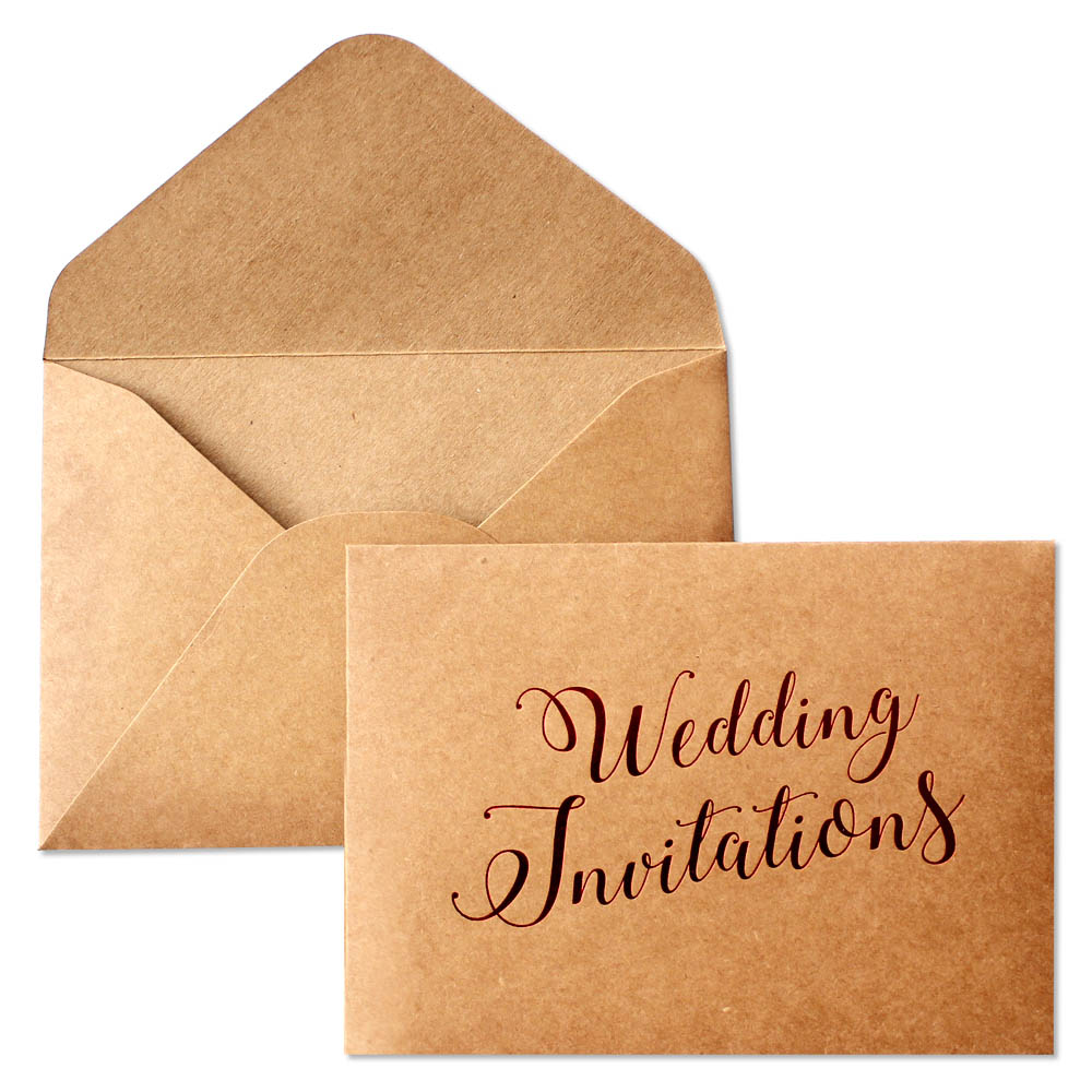 Us 35 0 Rustic Wedding Invitation Envelopes Vintage Kraft Paper Envelope Set Of 20 Pcs In Cards Invitations From