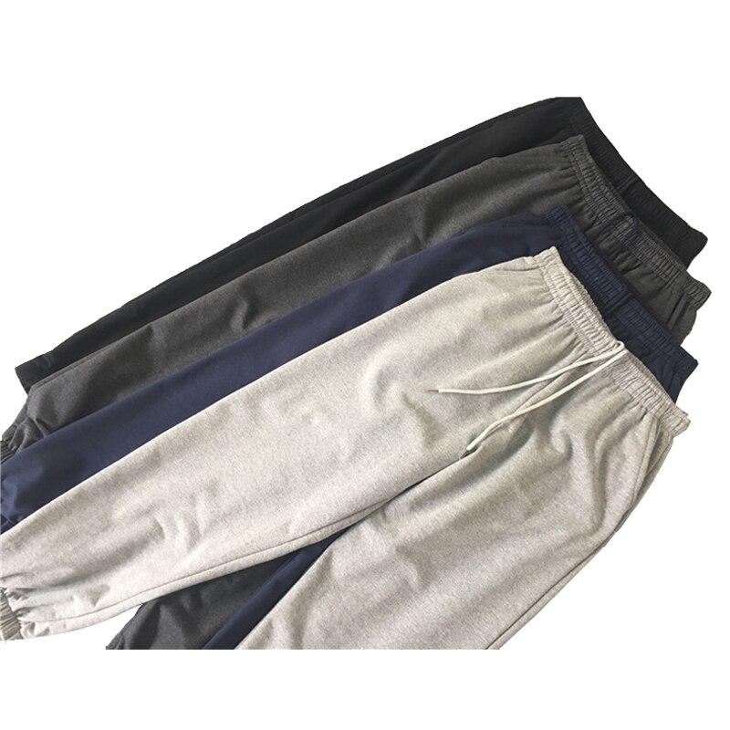 cotton pyjamas mens sleep bottoms casual men's sleep long underwear comfortable male loose plus size homewear lounge trousers