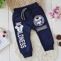 Niños de la manera pantalones para niños niñas pantalones de algodón niños primavera pantalones casuales pantalones del bebé niños sport ropa