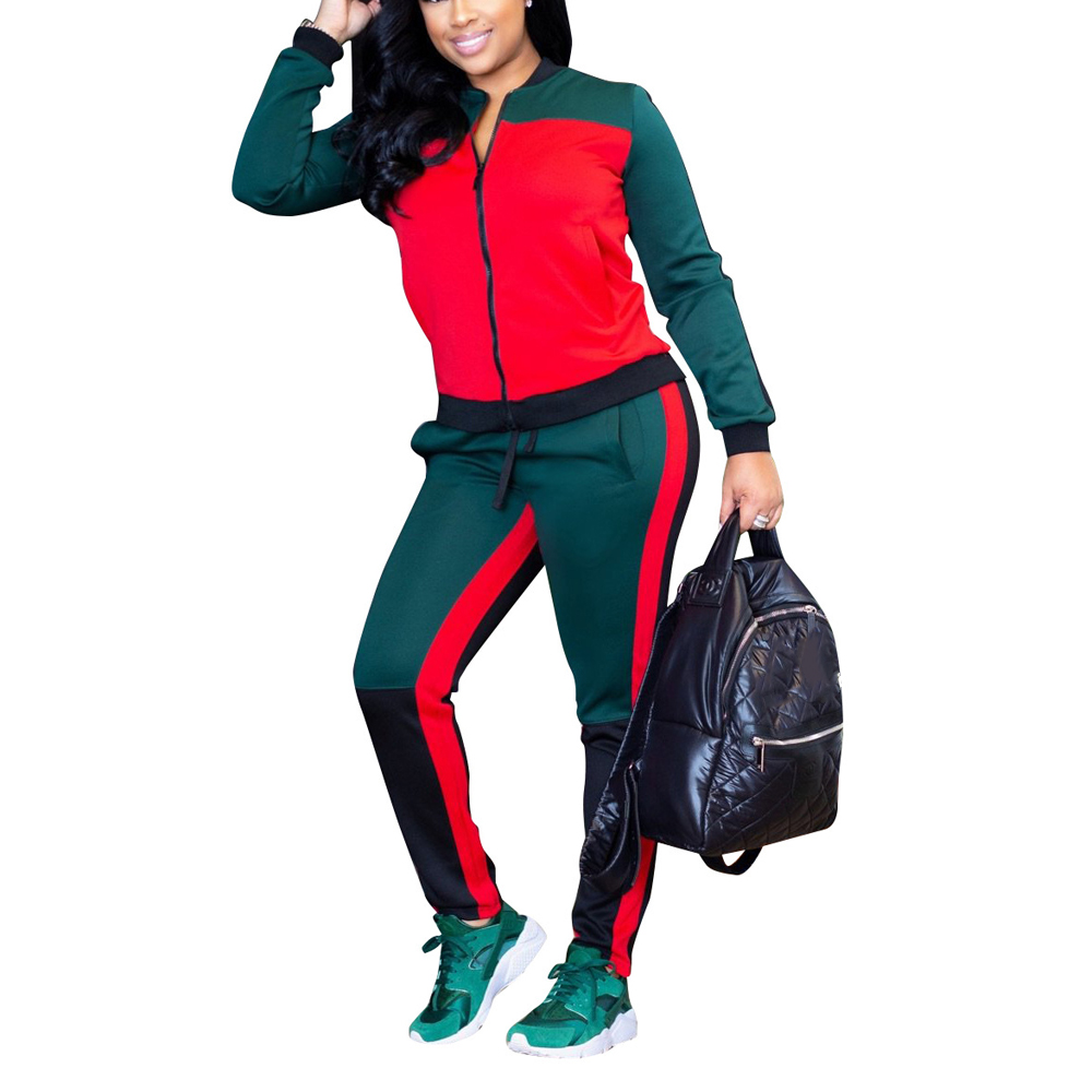 77f00d3c5d ... das Mulheres do Sexo Feminino de Outono E Inverno Longo sleeved two  piece Tamanho Grande Jumpsuit das Mulheres costura Macacão Baratas Online  Preço .