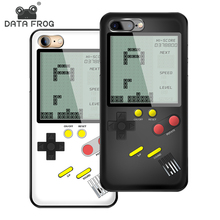 Data Frog 2 In 1 Retro Tetris Game Phone Case For Iphone X/6/7/8 Portable and Mini Handheld Gameboy Case For Iphone 7P Best Gift chandrayaan 1 mini sar data investigation