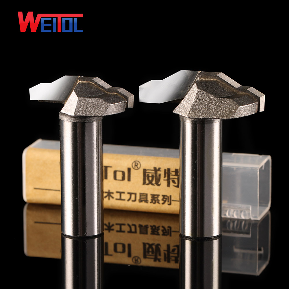 Weitol 1pcs 1/2 inch Woodworking Cutter Router Bits for wood,Wear-resisting carbide Two layer stair shaped carving bit high grade carbide alloy 1 2 shank 2 1 4 dia bottom cleaning router bit woodworking milling cutter for mdf wood 55mm mayitr