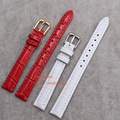Wholesale ! Straps for child men lady wrist watches 12 14 15 16 18 19 20 -mm Watch Band  Leather Watchband Alligator Grain  Belt