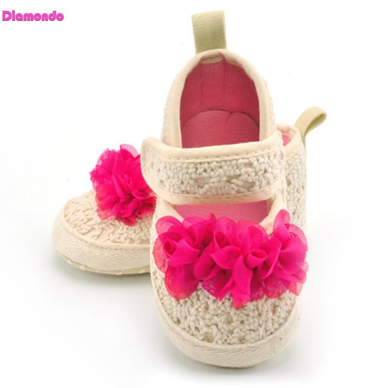 Spring Autumn Infant Toddler First Walkers Rose Red Flower Baby Girls Soft Sole Fashion Outdoor Newborn Princess Shoes For 0-18M