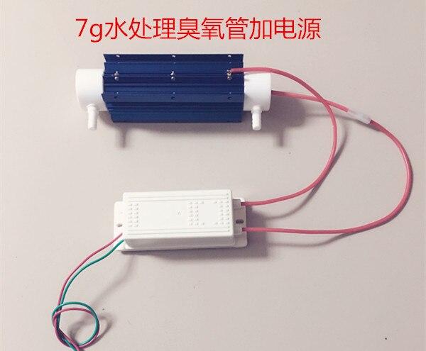 7G tube type ozone generator water treatment ozone power supply + quartz ozone tube цена и фото