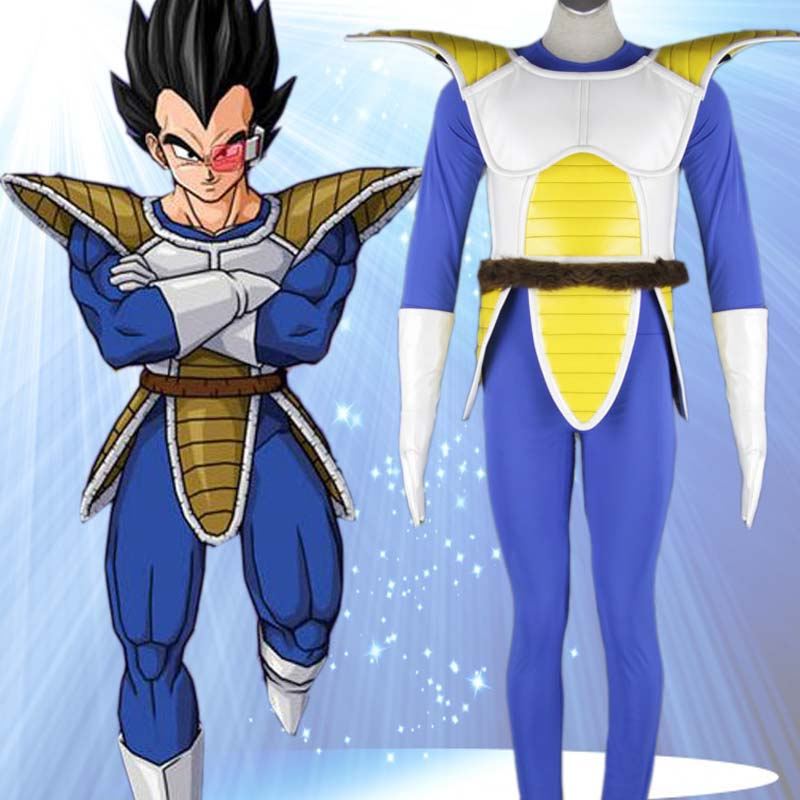 Dragon Ball Z Costumes végéta Cosplay bleu hommes Costumes