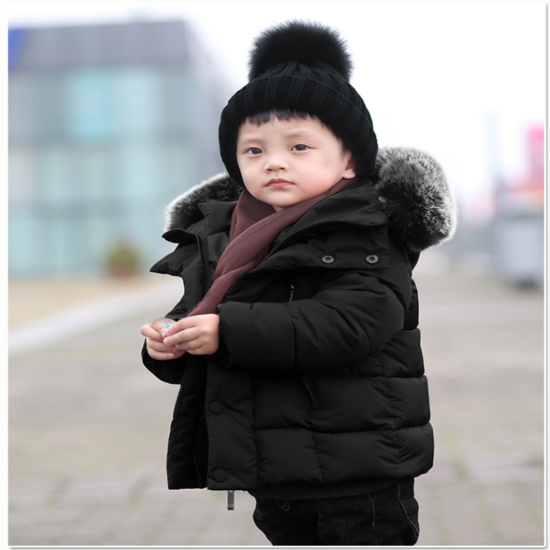 Mother & Kids 2017 New Small Children Cotton Padded Jacket Korean Girls Thickened Cotton Long Coat Wear Down & Parkas