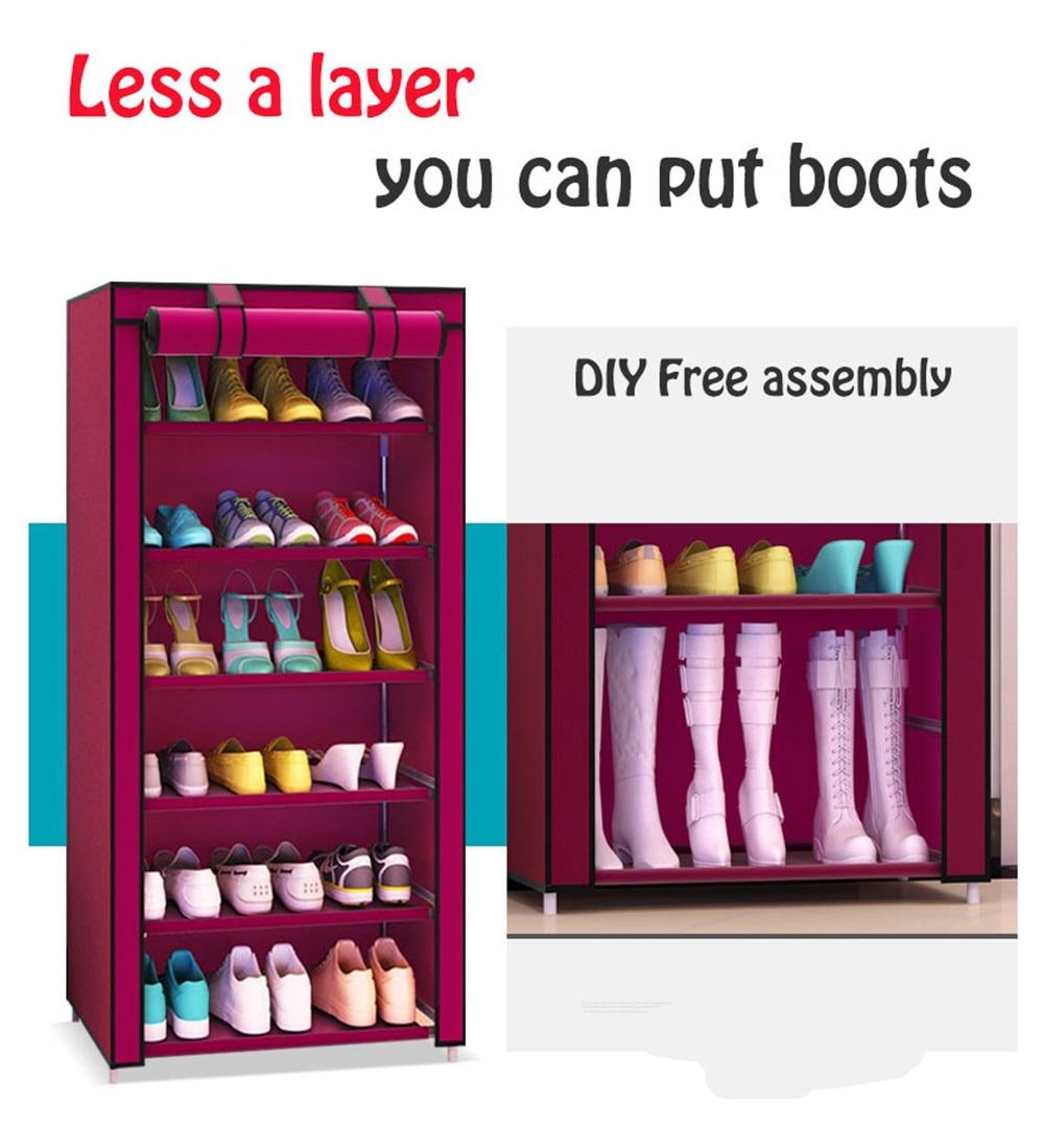 Shoe Storage Cabinet Non Woven Fabric Combination Dustproof Organizer Women Boot Stand Shelf Shoe Rack Storage 15 21 pair Shoes in Shoe Racks Organizers from Home Garden
