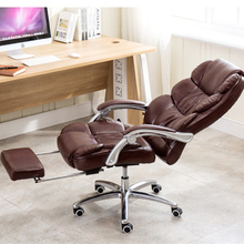 Quality Executive Chair Reclining Seat Soft PU Lifting Office Chair Footrest Super Soft Leisure 170 Degree Lying Boss Chair computer office boss chair household lying executive chair super soft leisure swivel lift synthetic leather chair with footrest