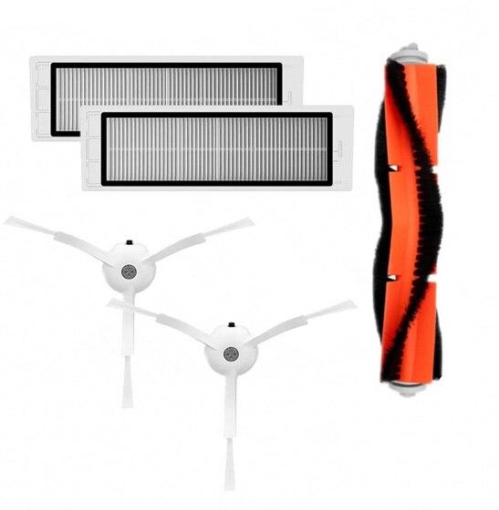New Main brush Hepa Filter Side brush Kit for Xiaomi mijia robot roborock s50 s51 roborock 2