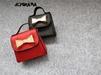JCYOKARA Wholesale 10pcs Lot Kids Mini Bowtie Messenger Bag 2017 Latest Children Small Bag Girls Bowtie