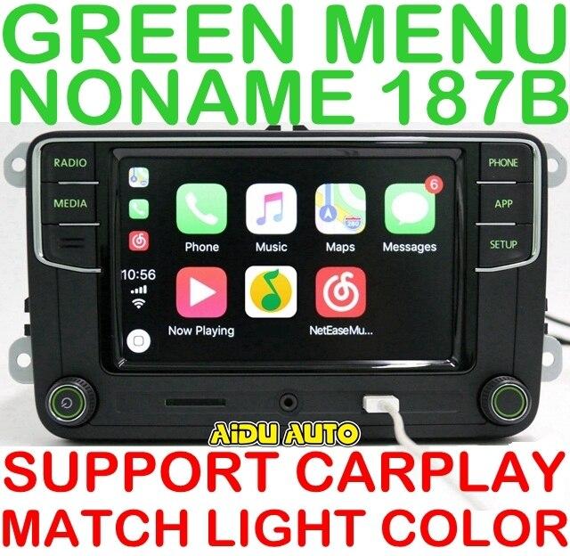 AIDUAUTO Carplay Noname RCD330 RCD330G Plus Radio Green Backlight For Skoda Octavia fabia 6RD 035 187 B 6RD035187B