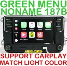 Aiduauto carplay noname rcd330 rcd330g mais rádio luz de fundo verde para skoda octavia fabia 6rd 035 187 b 6rd035187b