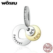 925 sterling silver romantic you & me forever cuelga los encantos aptos pandora original pulsera de auténtico regalo de la joyería
