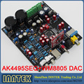 Assembled AK4495 + WM8805 + PCM2706 DAC Optical Fiber Coaxis USB decoder board