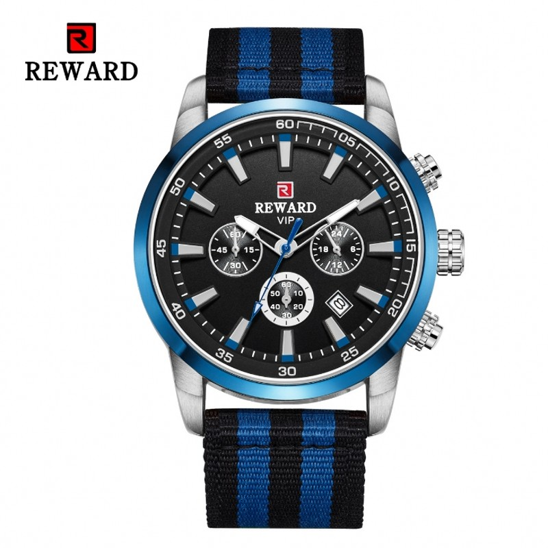 Mens Watches Top Luxury Brand Luminous Watch Waterproof Sports Chronograph Watch Nylon Strap Outdoor Hiking Mountain Watch Retro