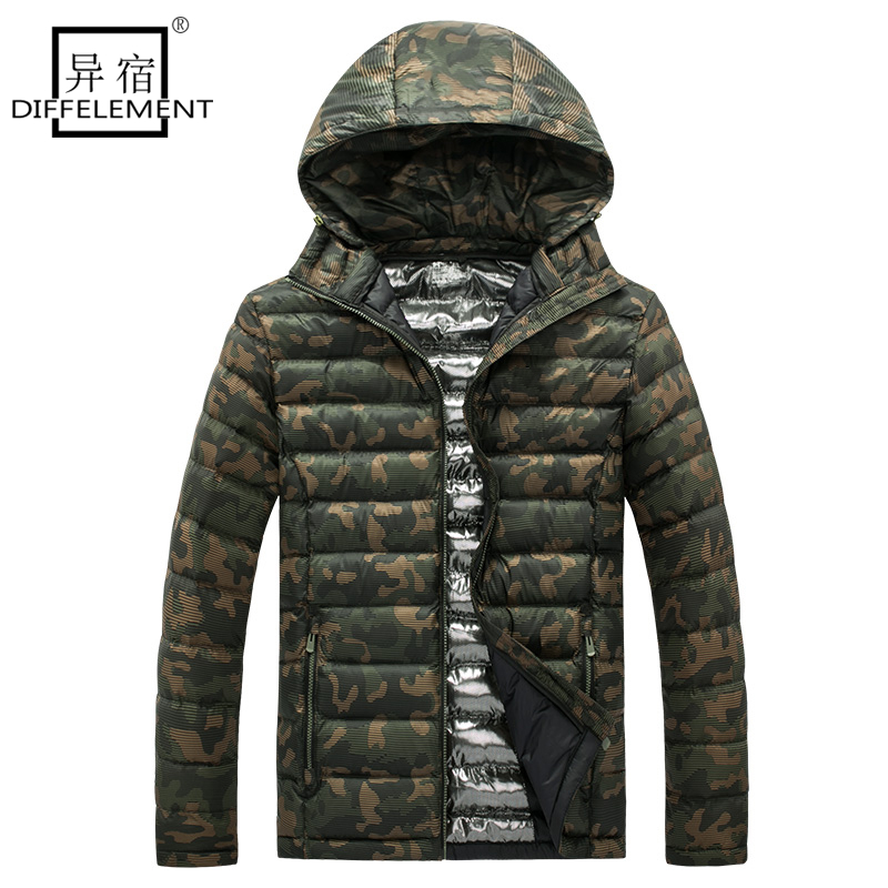 DIFFELEMENT 2017 Brand New Men Jacket Autumn Winter High Quality Fashion Coat Casual Outwear Cool Design Warm Jacket Clothing