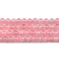 Natural Stone Beads Rose Crystal Quartz Round Loose Beads For Jewelry Making Necklace Bracelet Accessories 6