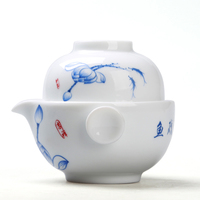 Quik Cup Of Blue And White Porcelain Pot Cup Personal Office Hand Travel Special Ceramic Pot