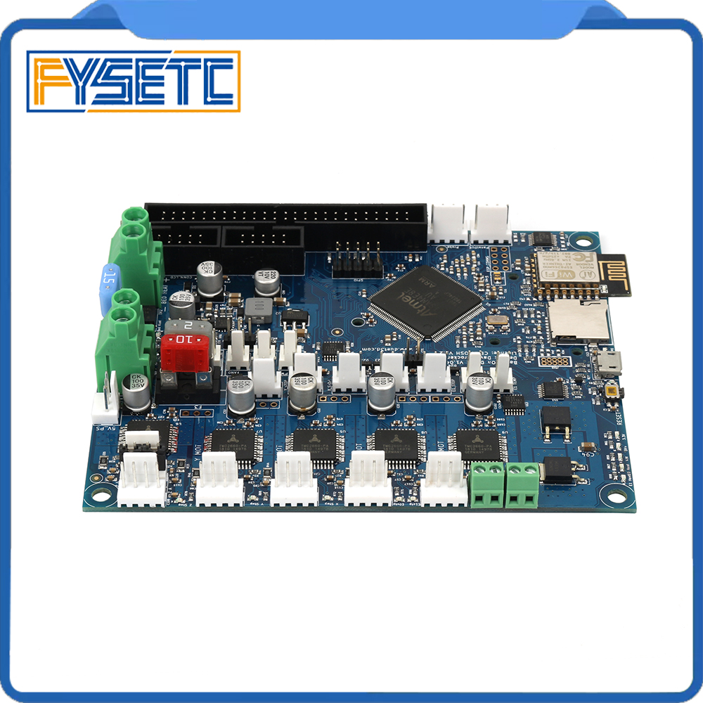 Image 4 - Cloned Duet 2 Wifi V1.04 DuetWifi Advanced 32 Bit Electronics + PanelDue Connected Board For BLV MGN Cube 3D Printer CNC Machine-in 3D Printer Parts & Accessories from Computer & Office