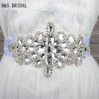 Hot Glass Crystal Bridal Belt Handmade Rhinestone Czech Stones Wedding Dress Waistband Bridal Sashs Wedding Accessories