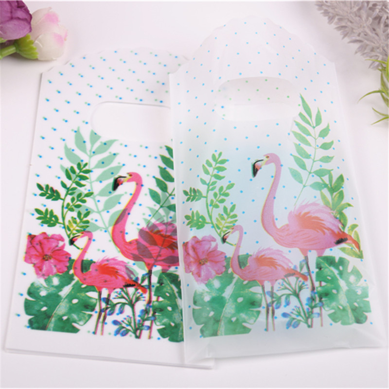 2019 New Style Flamingo Gift Packaging Wholesale 50pcs/lot 9*15cm High Quality Luxury Vintage Small Gift Pouches For Cookie